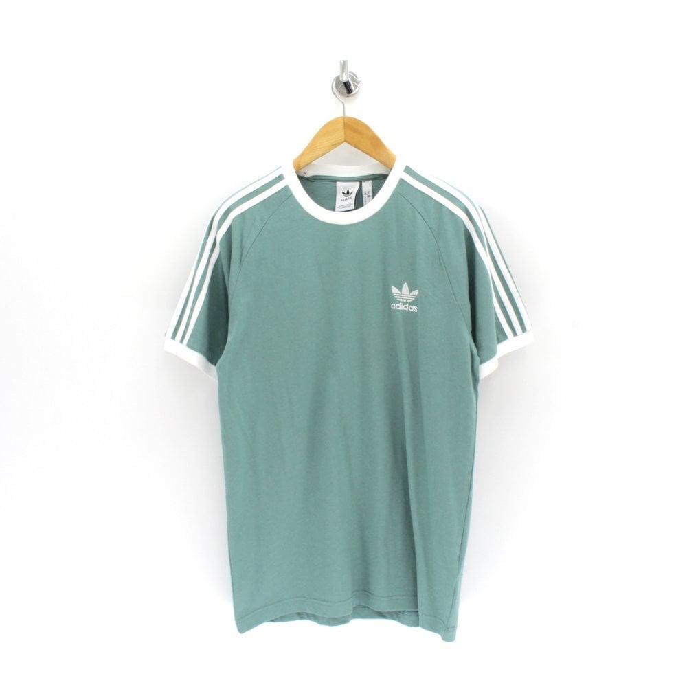 ADIDAS ORIGINALS CLOTHING 3 Stripe Green T Shirt