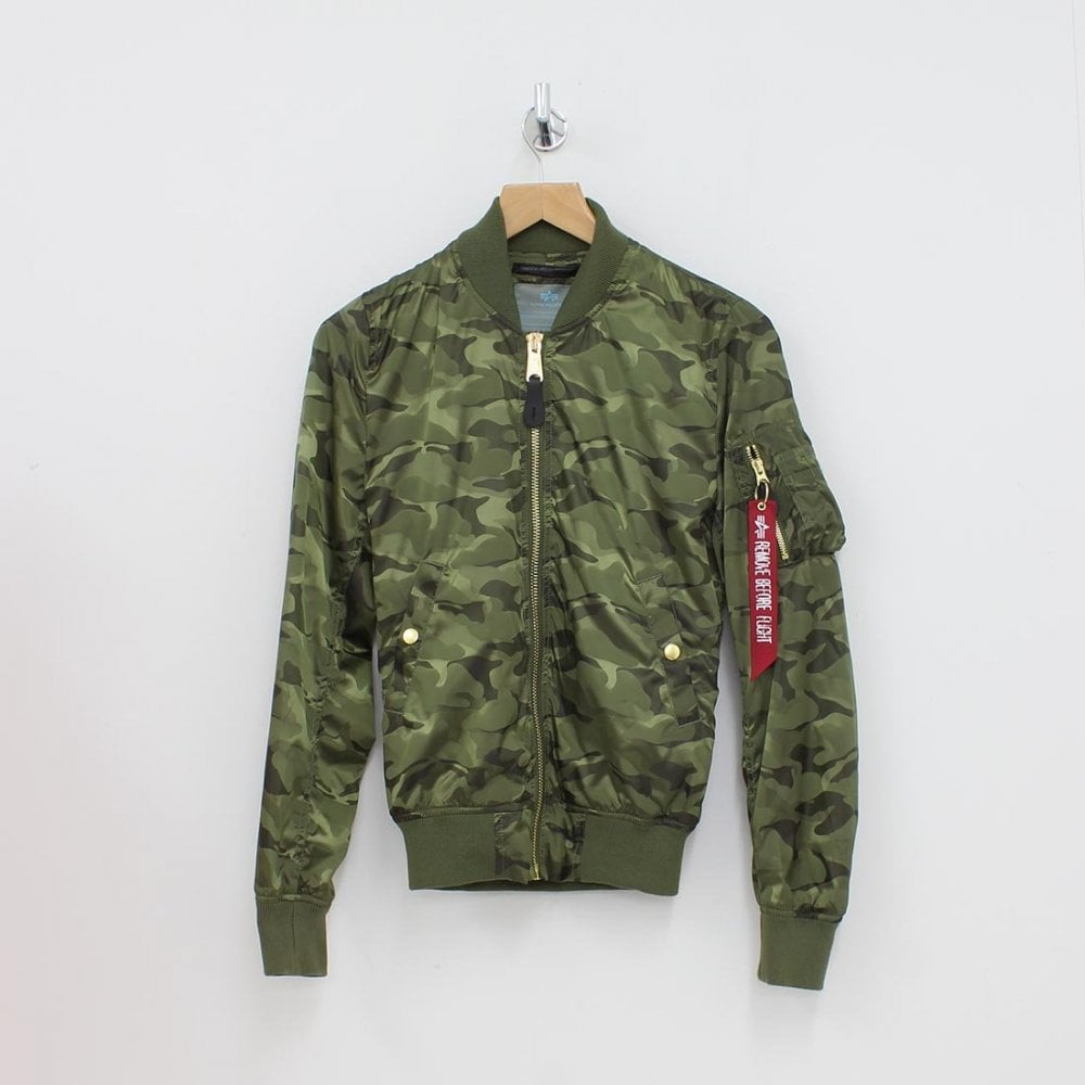 544ec6fe9 ALPHA INDUSTRIES Alpha Industries Flying Bomber Jacket Green