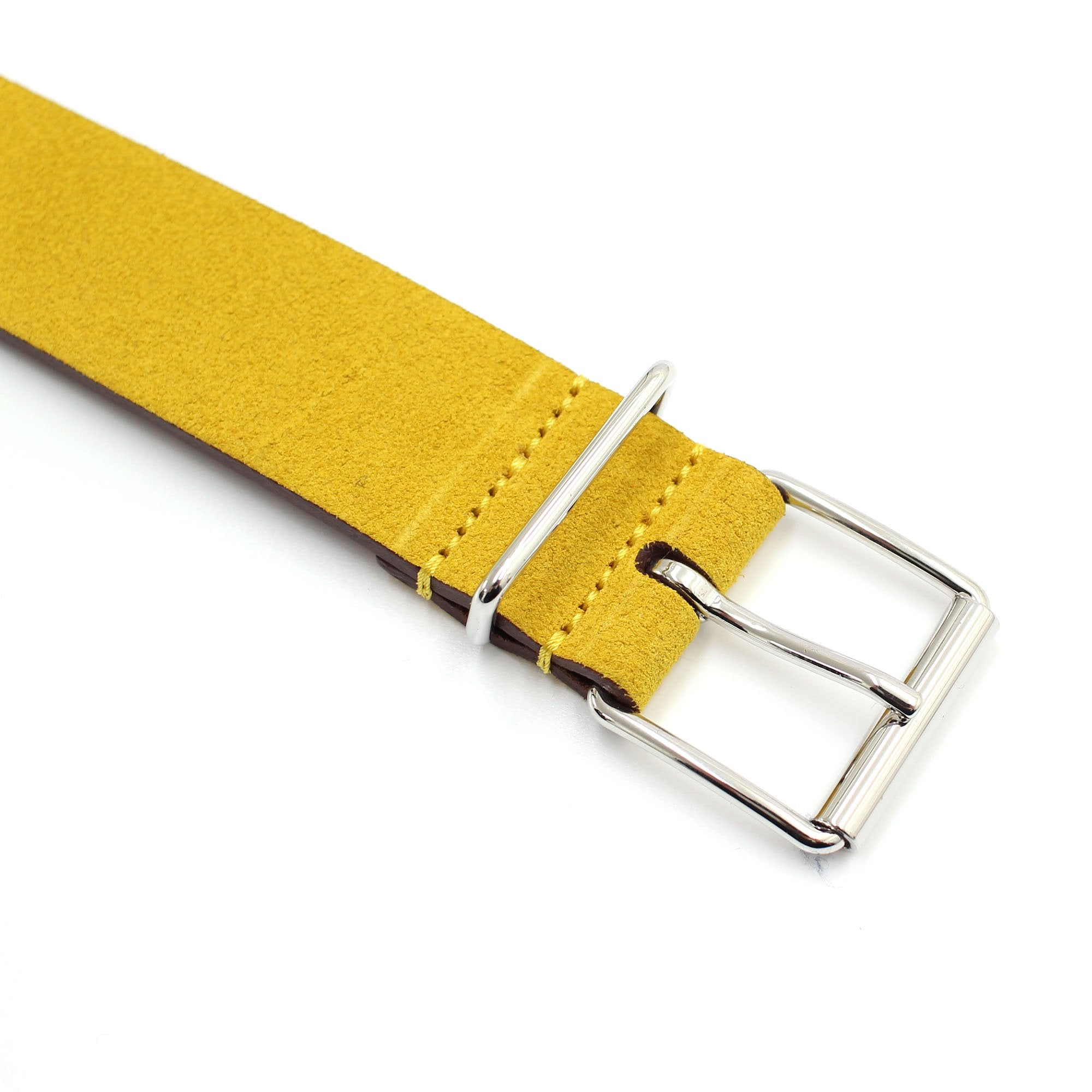 ANDERSONS BELTS Yellow Suede Belt