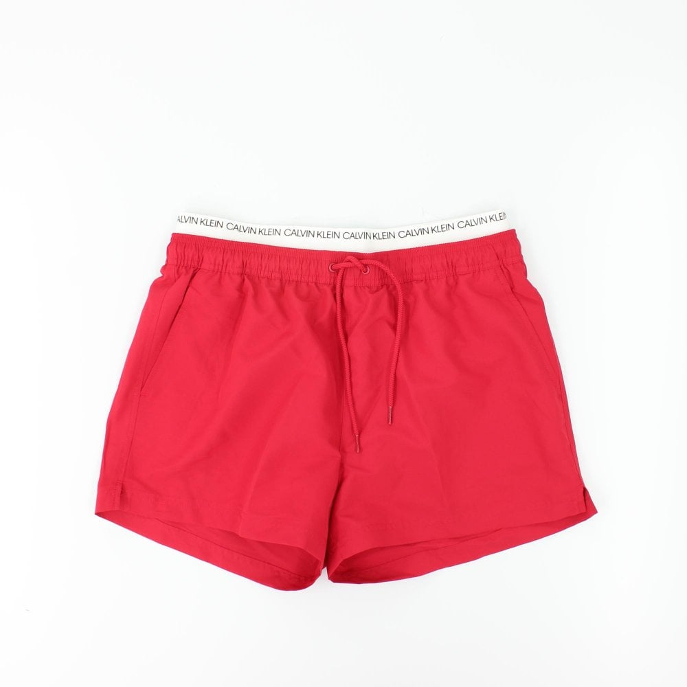 a8c6bc6026 CALVIN KLEIN Double Waistband Red Swimming Shorts - Mens from PILOT UK