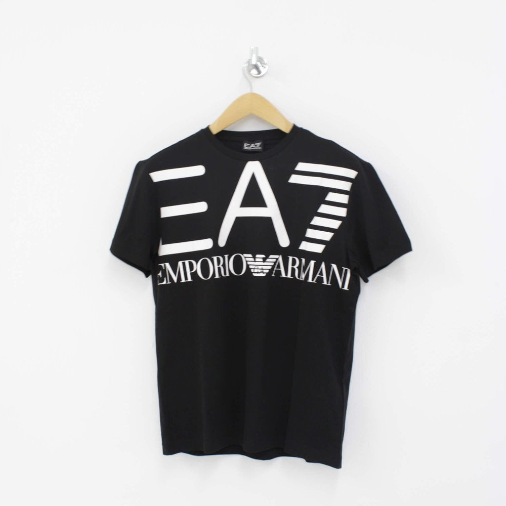 best sneakers get cheap official supplier EA7 EMPORIO ARMANI Large Logo T-Shirt Black
