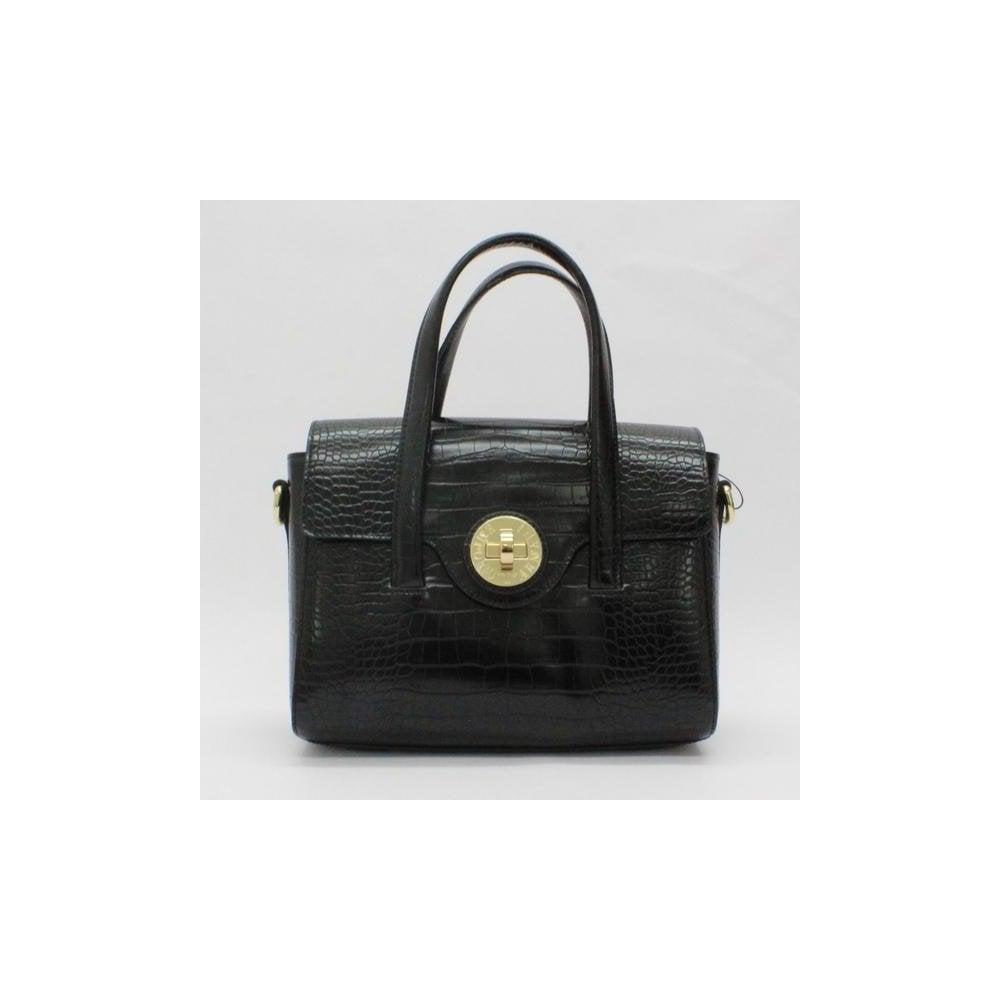 f6cb119853 EMPORIO ARMANI Emporio Armani Croc Large Flap Bag Black