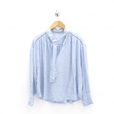46392b5710f0e6 Wishful Moments Blue Blouse Sale · FREE PEOPLE ...