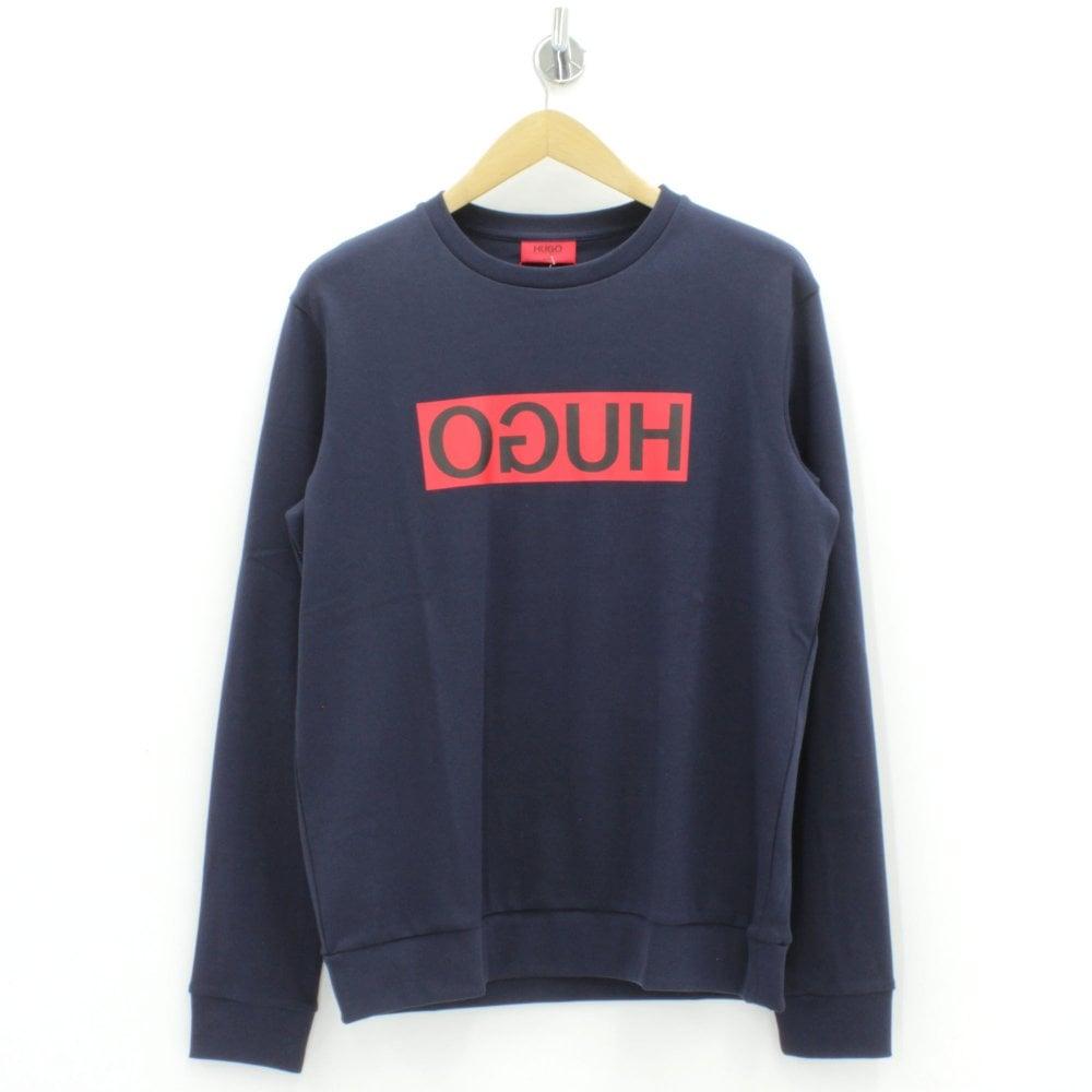 how to orders new arrive value for money HUGO BY HUGO BOSS Dicago Hugo Logo Navy Sweatshirt