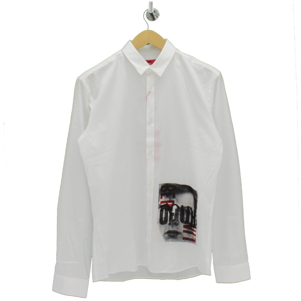 f4b0c5984 HUGO BY HUGO BOSS Eros Photo Print White Shirt - Mens from PILOT UK