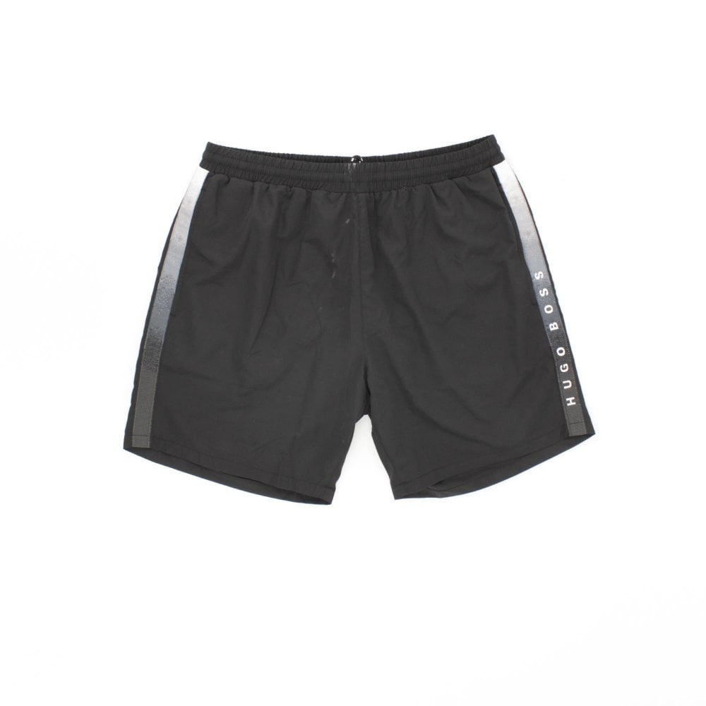 6d7389d2b HUGO BY HUGO BOSS Seabream Black Swimming Shorts - Mens from PILOT UK