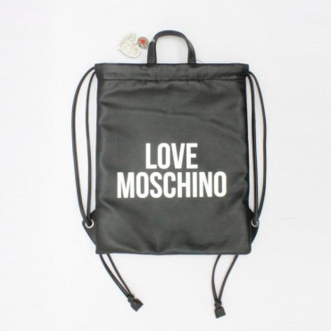 Love Moschino Leatherette Gym Bag Black d7a69db32d8d0
