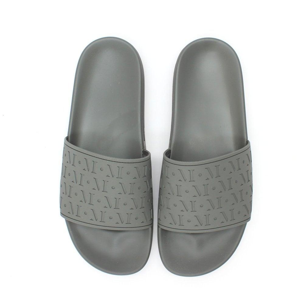 MALLET Repeat Logo Grey Sliders - Mens