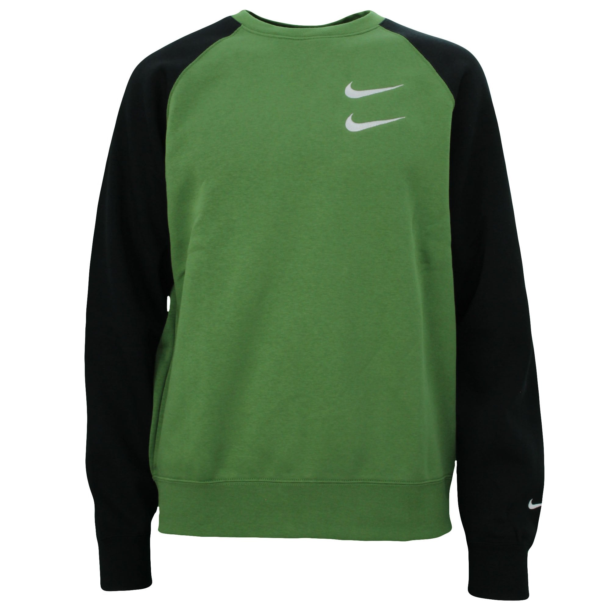 inercia Broma Sequía  NIKE CLOTHING Double Swoosh Green Sweatshirt - Mens from PILOT UK