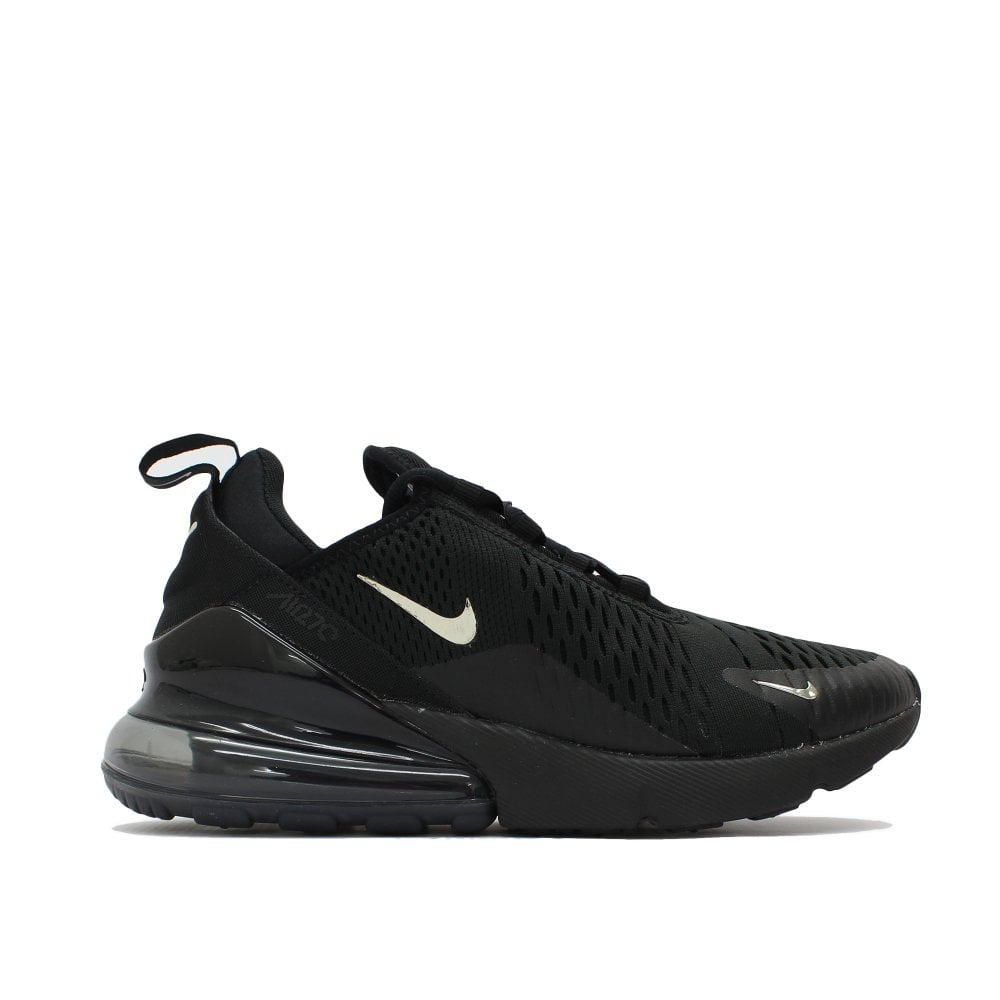 NIKE TRAINERS Air Max 270 Black Silver Trainer