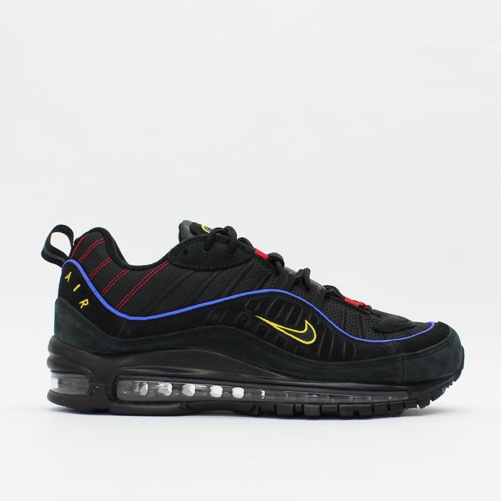 89f7c898c5 NIKE TRAINERS Air Max 98 Black Purple - Mens from PILOT UK