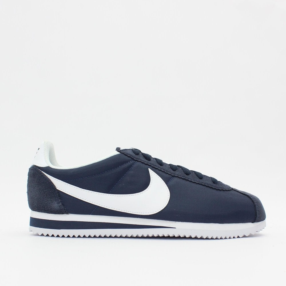 new product 205bc c9cff NIKE TRAINERS Classic Cortez Nylon Navy