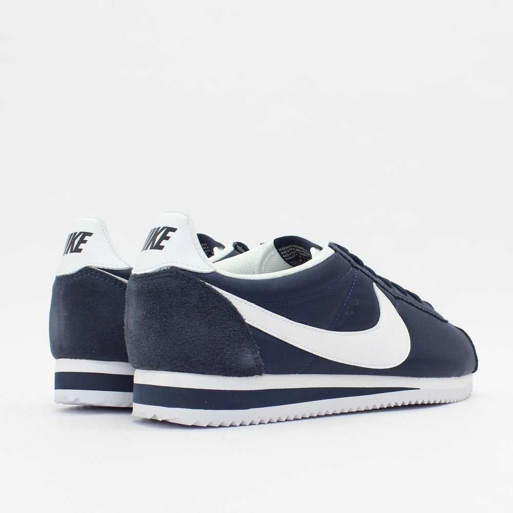 new product aa408 81192 NIKE TRAINERS Classic Cortez Nylon Navy