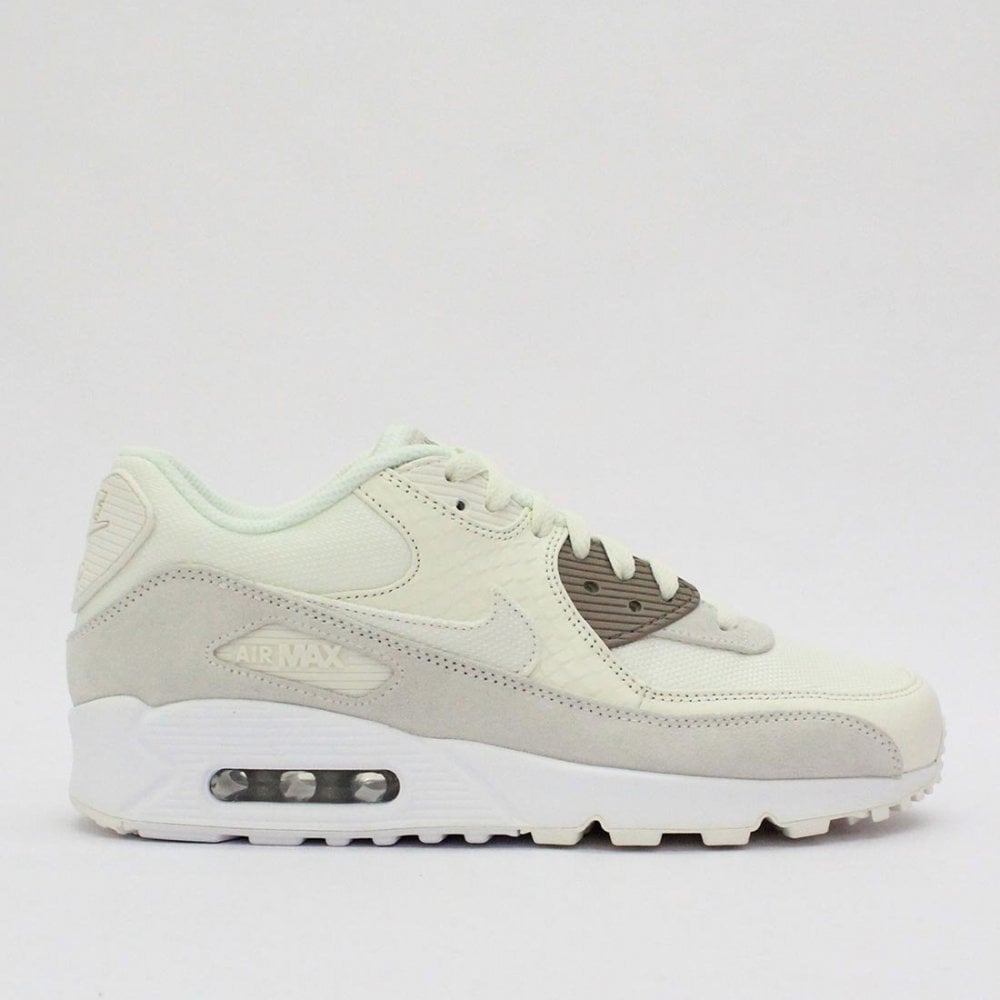 acheter populaire 3d61d ef177 NIKE TRAINERS Nike Air Max 90 Premium Sail White 700155 114