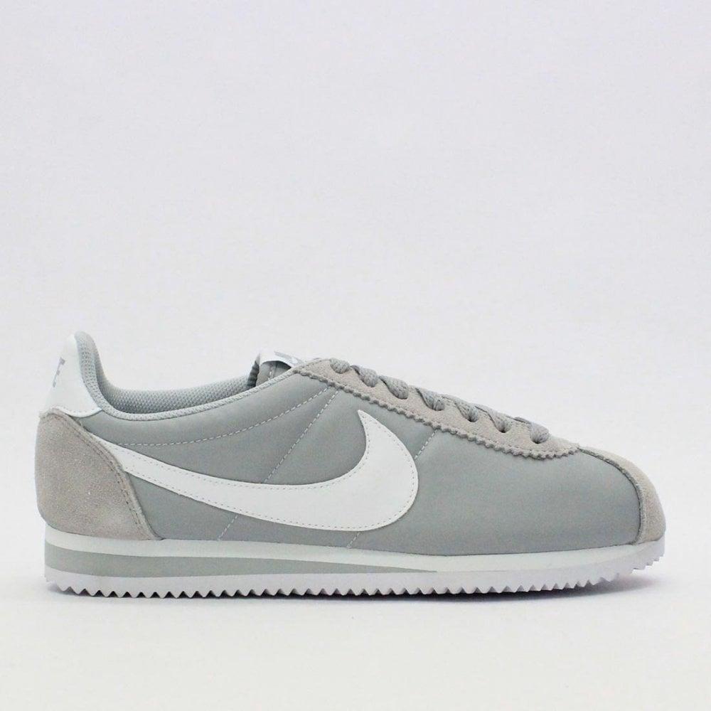 big sale f94f4 8bd03 NIKE TRAINERS Nike Classic Cortez Nylon Wolf Grey 807472 022