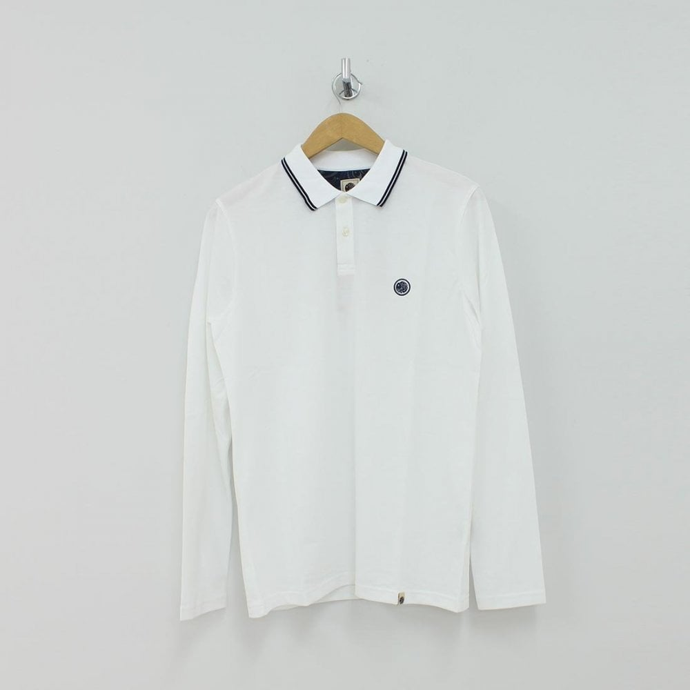 f660f7d007c Home · Mens · Polo Shirts  PRETTY GREEN C7GMU44249100 LS TIPPED PIQUE POLO  NVY. Tap image to zoom. C7GMU44249100 LS TIPPED PIQUE POLO NVY