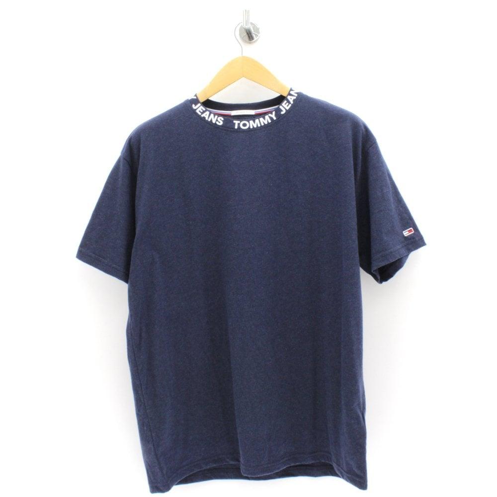 c9d2dc99f ... T-Shirts; TOMMY HILFIGER Brand Collar Navy T Shirt. Tap image to zoom.  Brand Collar Navy T Shirt