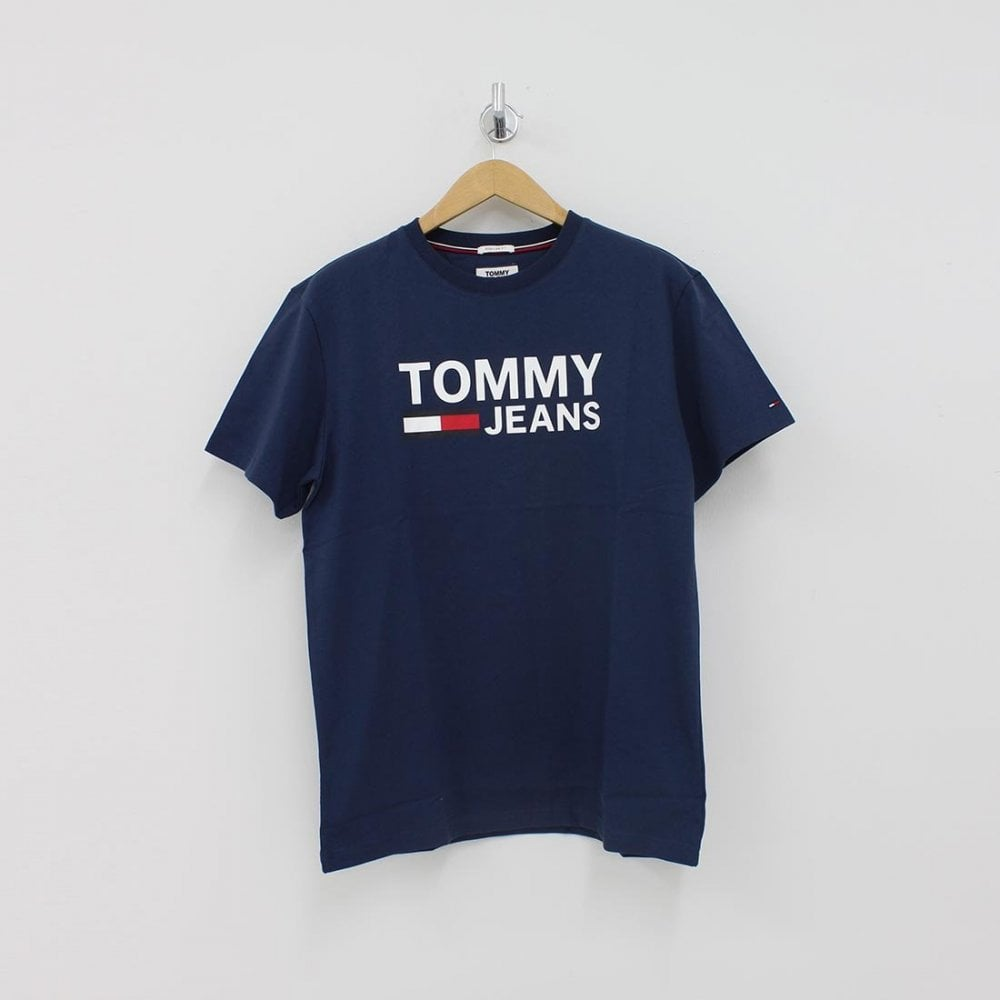 c03fd9fc5 TOMMY HILFIGER Tommy Hilfiger Classic Logo T-Shirt Navy - T-Shirts from  PILOT UK