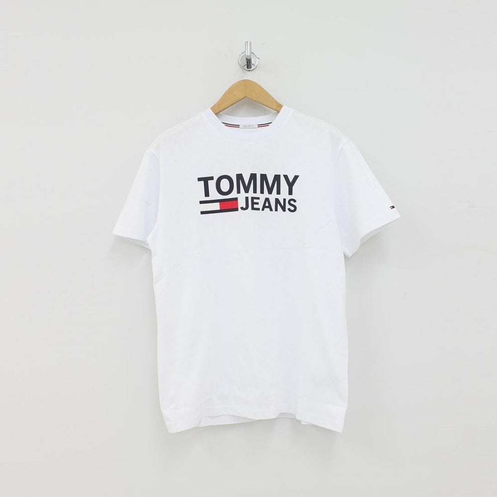 c39ddb6d7 TOMMY HILFIGER Tommy Hilfiger Classic Logo T-Shirt White - T-Shirts from PILOT  UK