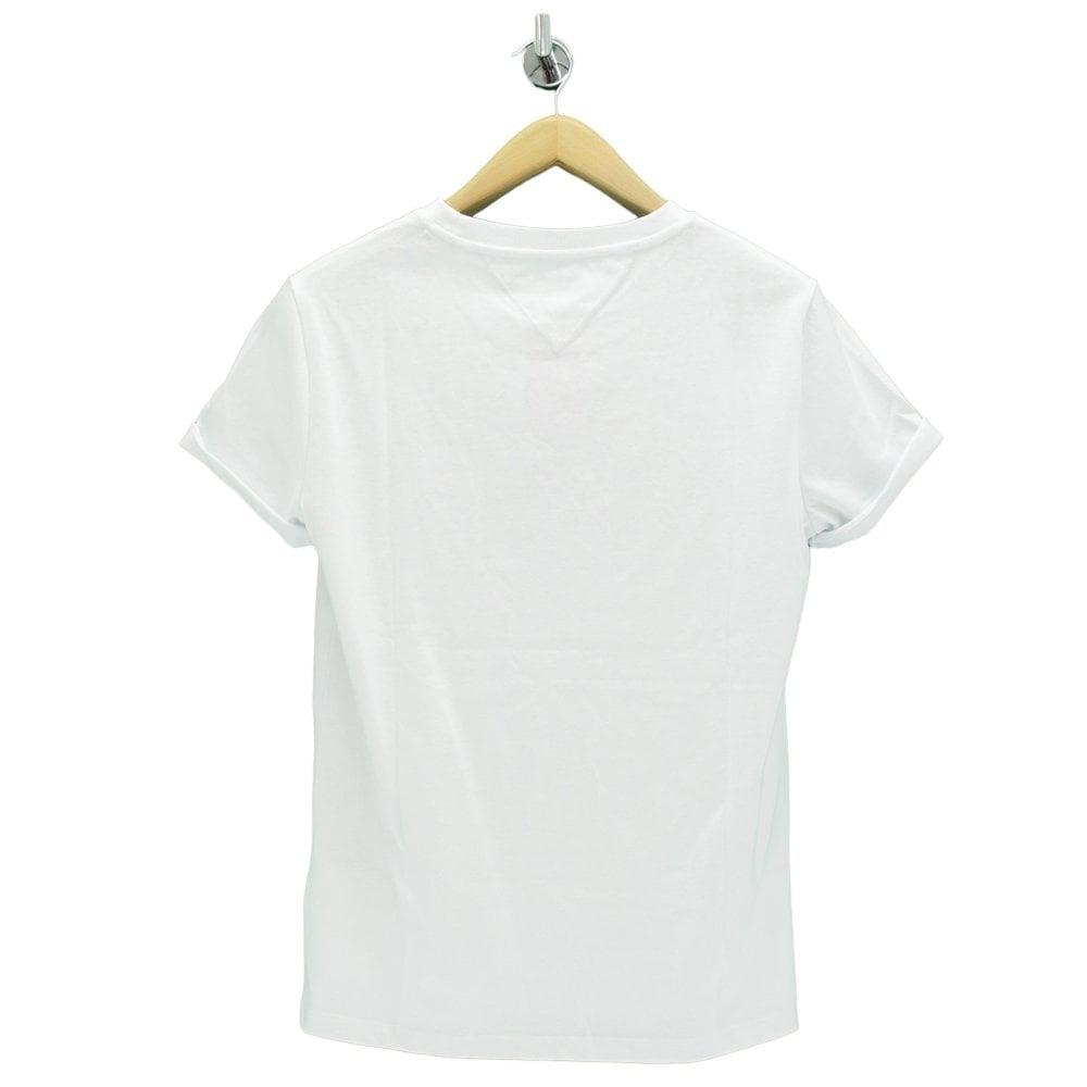 TOMMY HILFIGER Collegiate Acre Logo White T Shirt