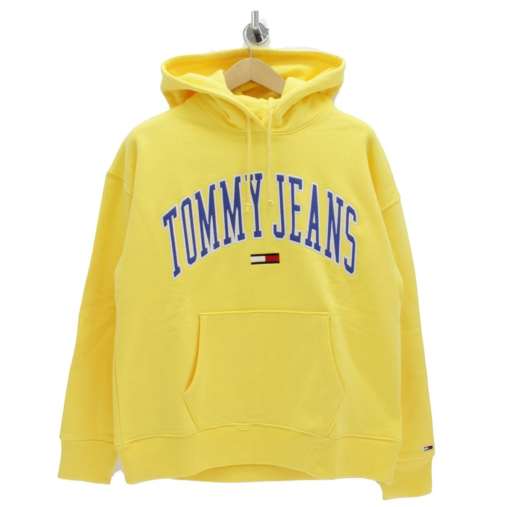 new selection sale retailer nice cheap TOMMY HILFIGER Collegiate Hooded Yellow Sweatshirt