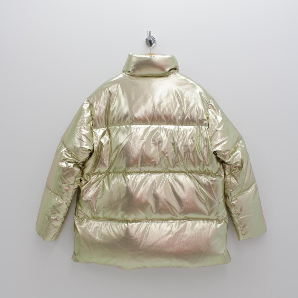 e93df5f163c8 TOMMY HILFIGER Icon High Gloss Gold Puffa Coat - Womens from PILOT UK