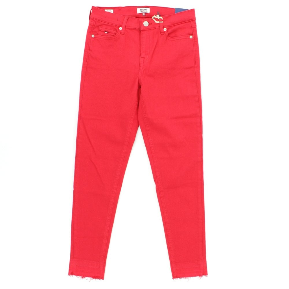 entregar Inminente Cliente  TOMMY HILFIGER Mid Rise Red Skinny Jeans - Womens from PILOT UK