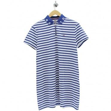 2c78ec66 Stripe Blue White Polo Dress. TOMMY HILFIGER ...