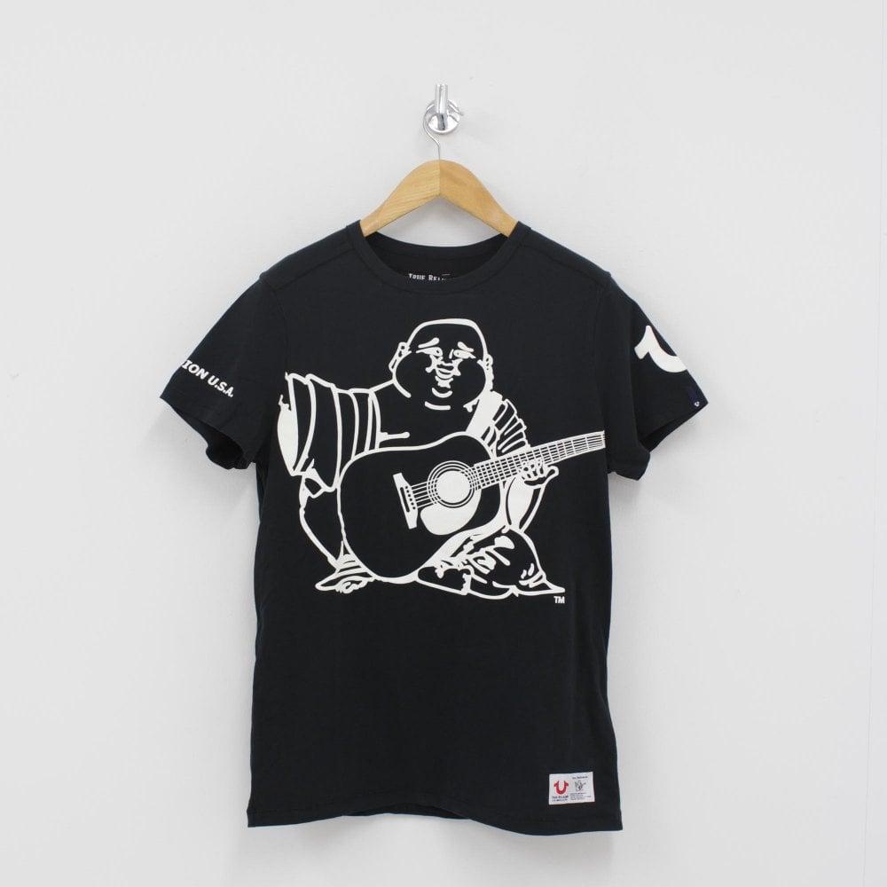 82d1d0d444b63 TRUE RELIGION Oversized Buddha Logo T-Shirt Black - Mens from PILOT UK