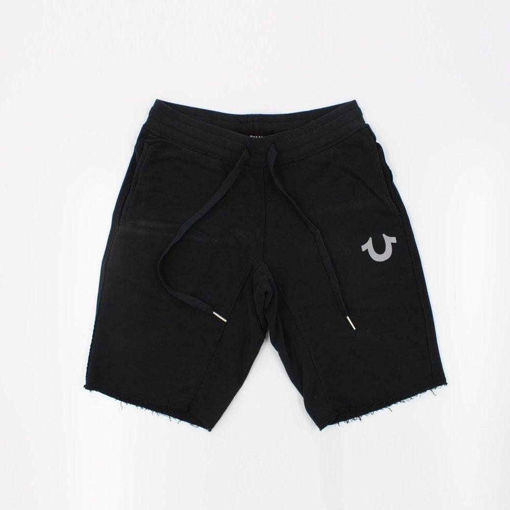 f485652f9 Home · Mens · Shorts  TRUE RELIGION Reflective Black Sweat Shorts. Tap  image to zoom. Reflective Black Sweat Shorts
