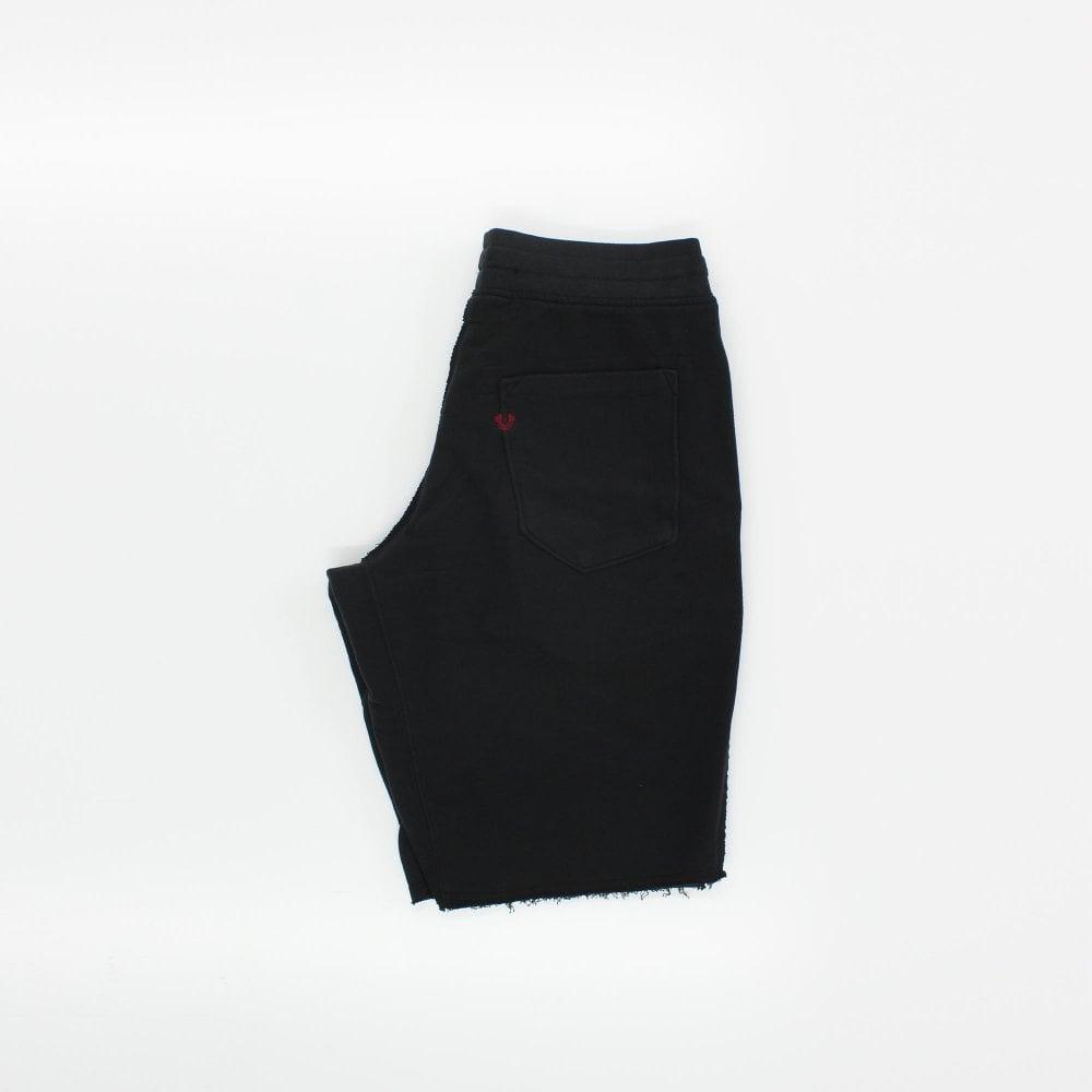 68b548336 TRUE RELIGION Reflective Black Sweat Shorts - Mens from PILOT UK