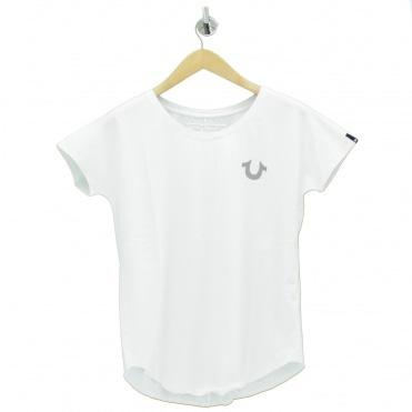 7fe566ca4 Reflective Logo Text White T Shirt. TRUE RELIGION ...
