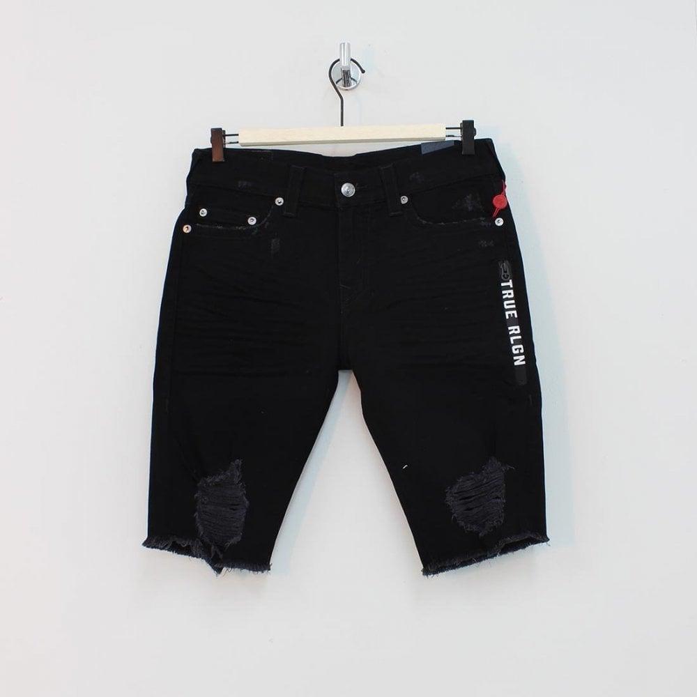 2ac0e7681c TRUE RELIGION True Religion Rocco No Flap Shorts Black - Mens from PILOT UK