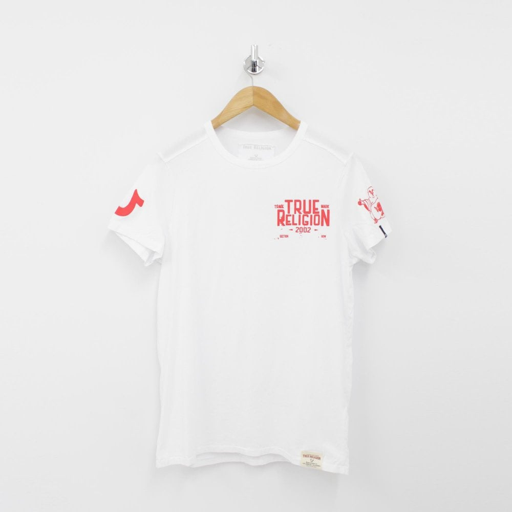 7e013e63 TRUE RELIGION TR Red Logo White T-Shirt - Mens from PILOT UK