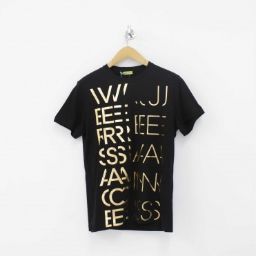 bbed521d All Over Print T-Shirt Black Sale. VERSACE JEANS ...