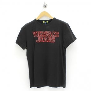 abb9b7ee VERSACE JEANS Circle And Star T-Shirt Black - Mens from PILOT UK