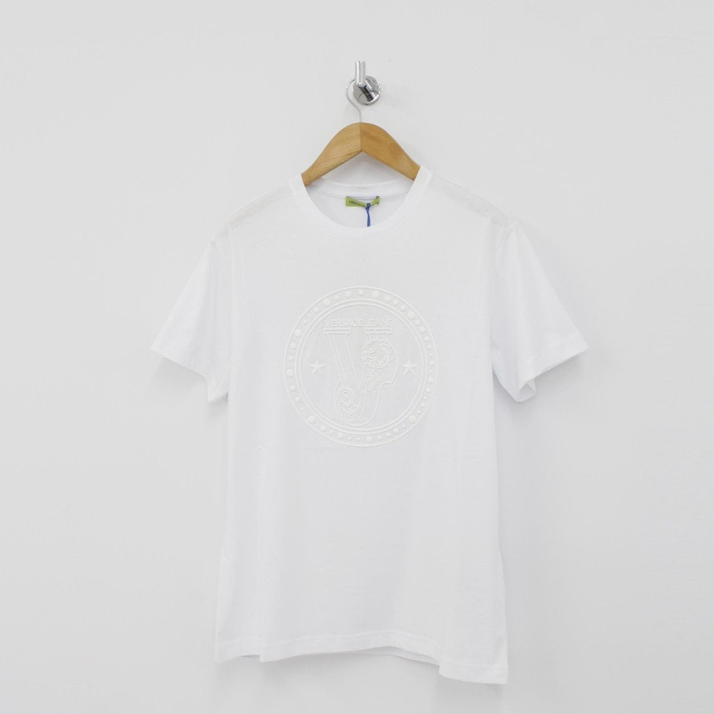 0b47de2a VERSACE JEANS Circle and Star White T-Shirt - Mens from PILOT UK