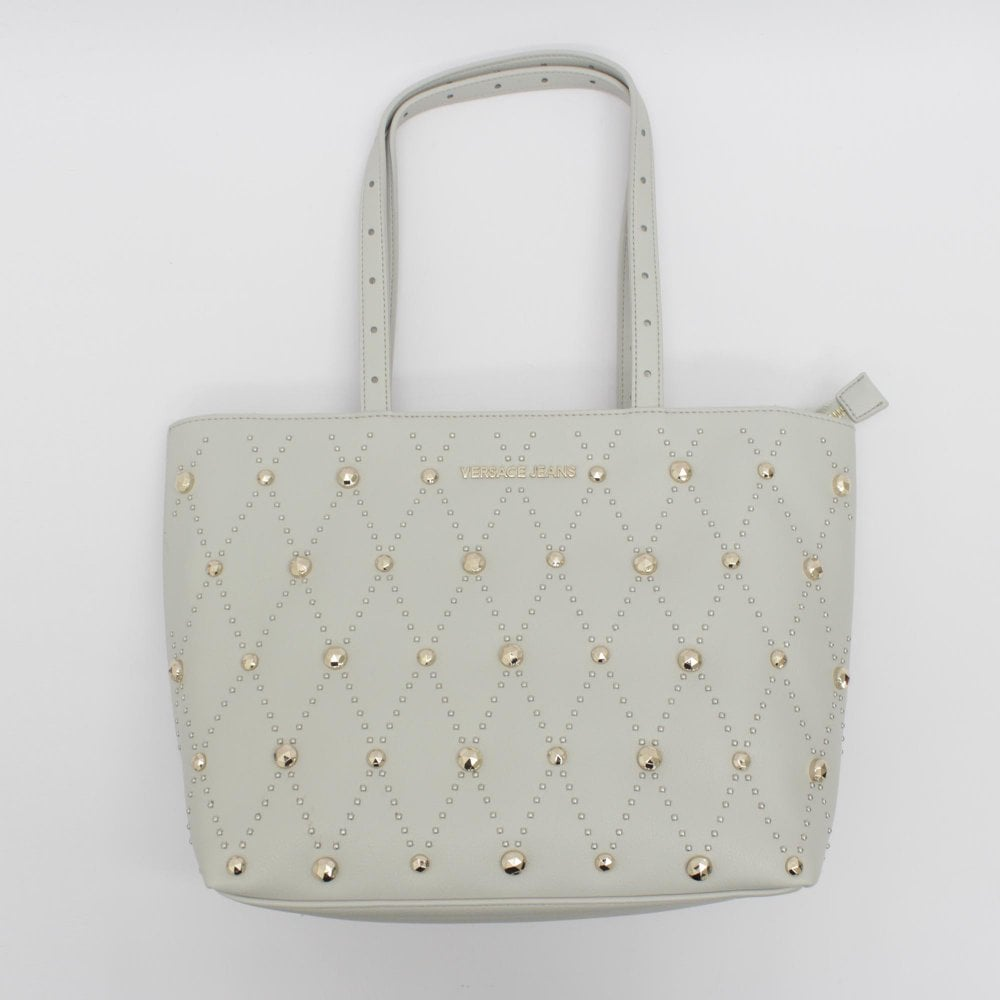 291d60c8cd56e6 VERSACE JEANS Grey Studs Tote Handbag - Womens from PILOT UK