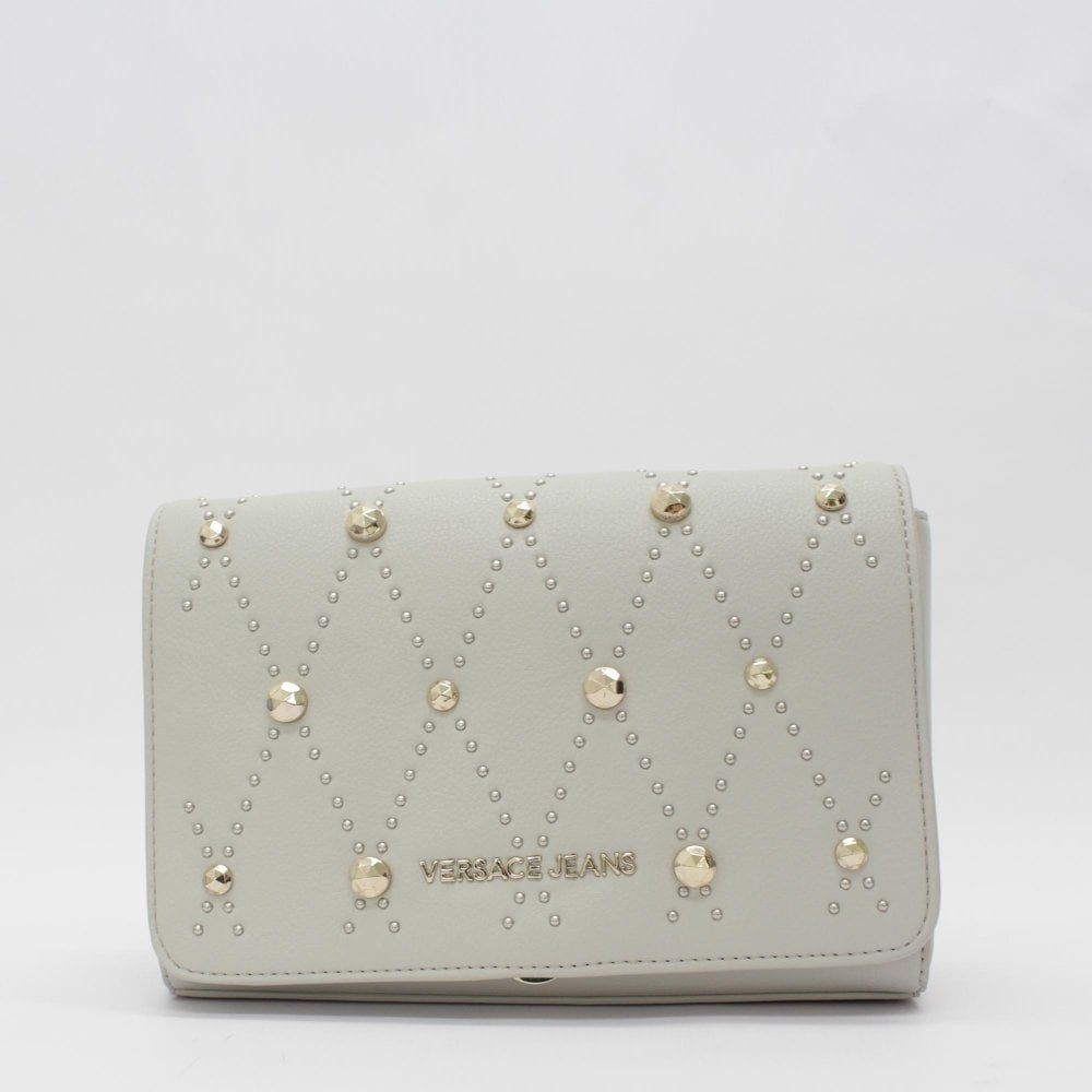 b68f6213dd7e4b VERSACE JEANS COUTURE Long Chain Handle Stud Grey Bag - Womens from PILOT UK