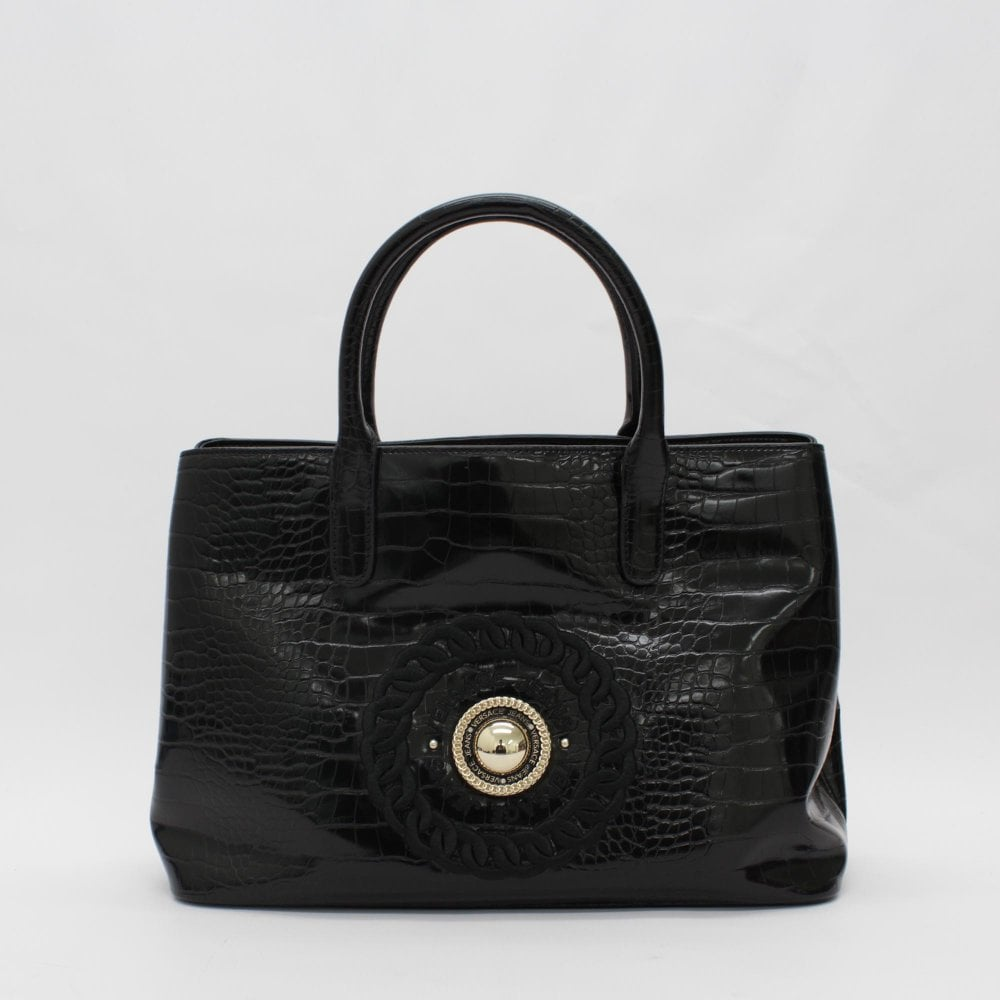 43214abd4fd75b VERSACE JEANS Moc Croc Tote Black Handbag - Womens from PILOT UK