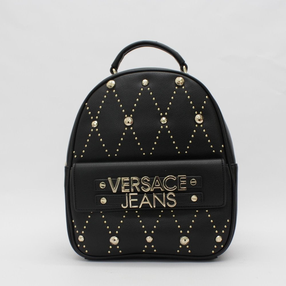 5707ecc3d8b9f4 VERSACE JEANS COUTURE Stud Mini Black Rucksack - Womens from PILOT UK