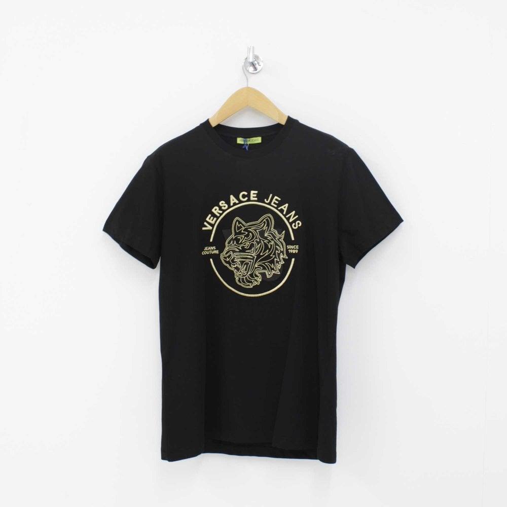 da789217e VERSACE JEANS Tiger T-Shirt Black - Mens from PILOT UK