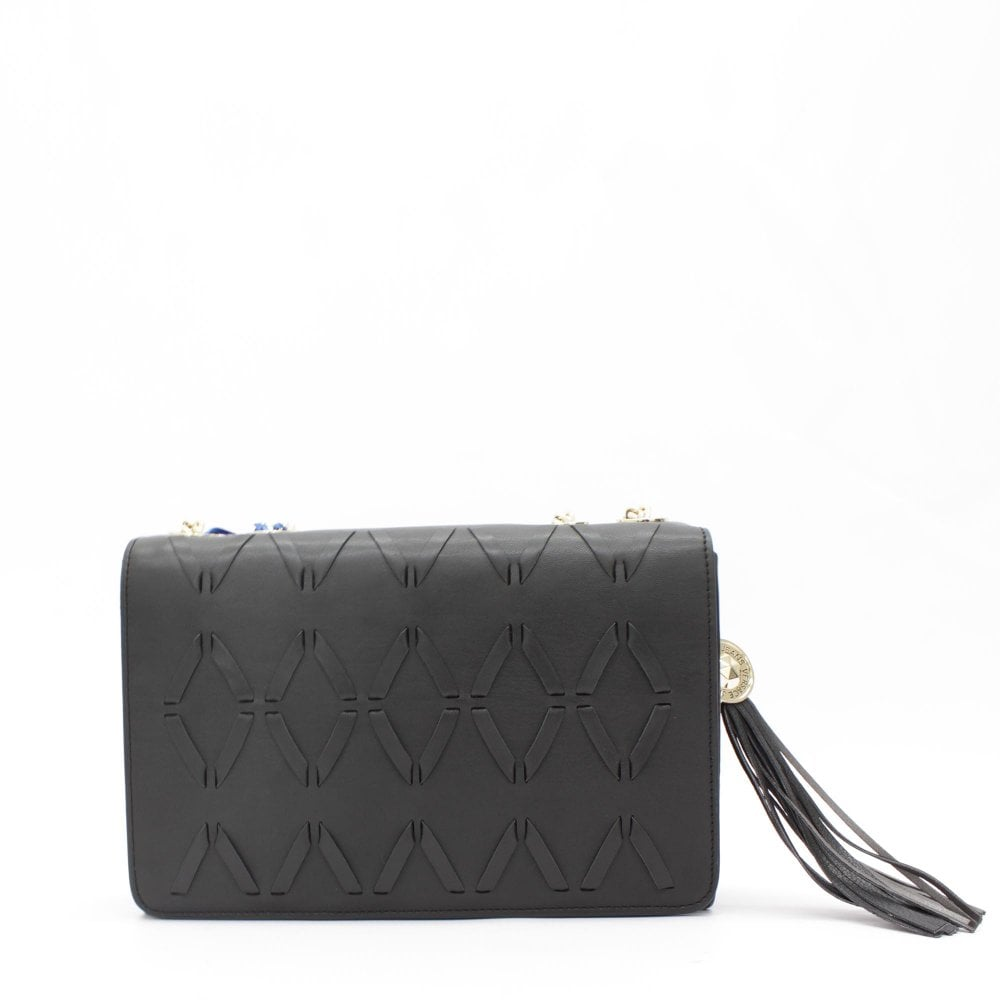 d74f6c71a816e8 VERSACE JEANS COUTURE Woven Black Crossbody Bag - Womens from PILOT UK