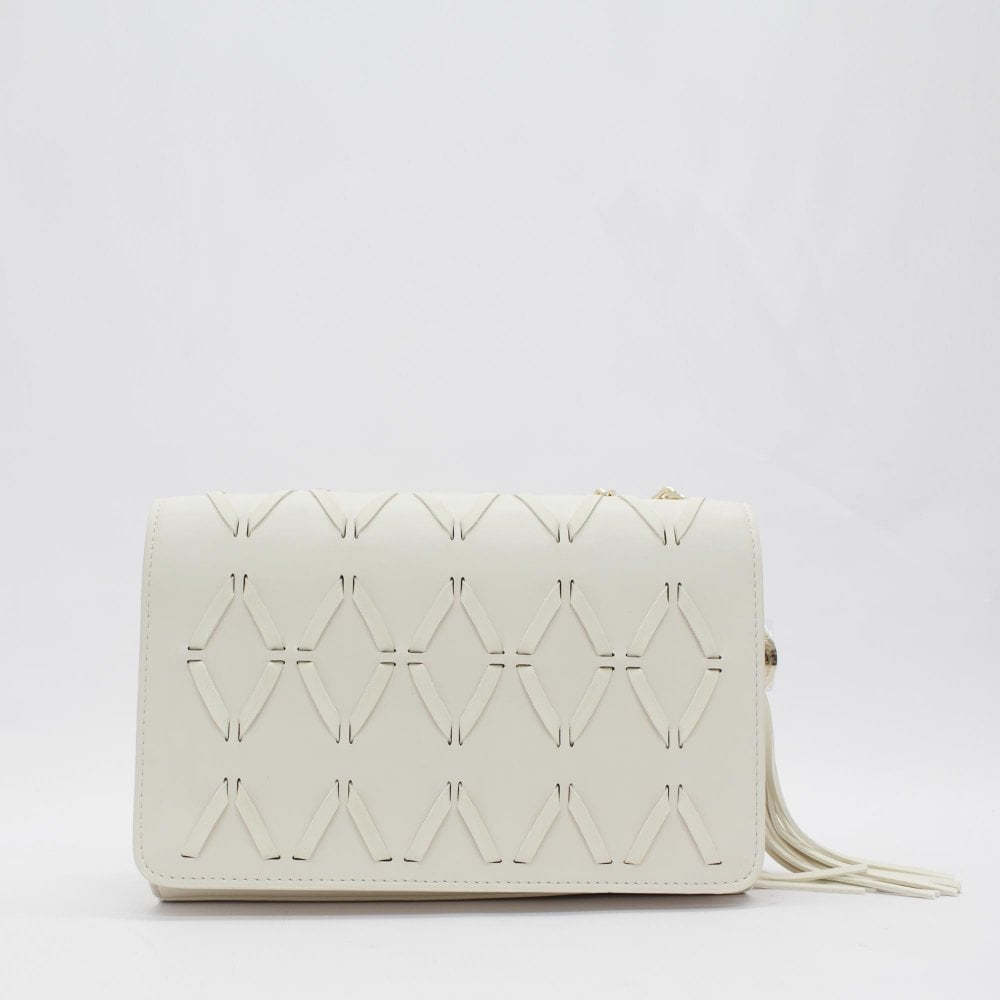 7d881af086daf6 VERSACE JEANS COUTURE Woven White Crossbody Bag - Womens from PILOT UK