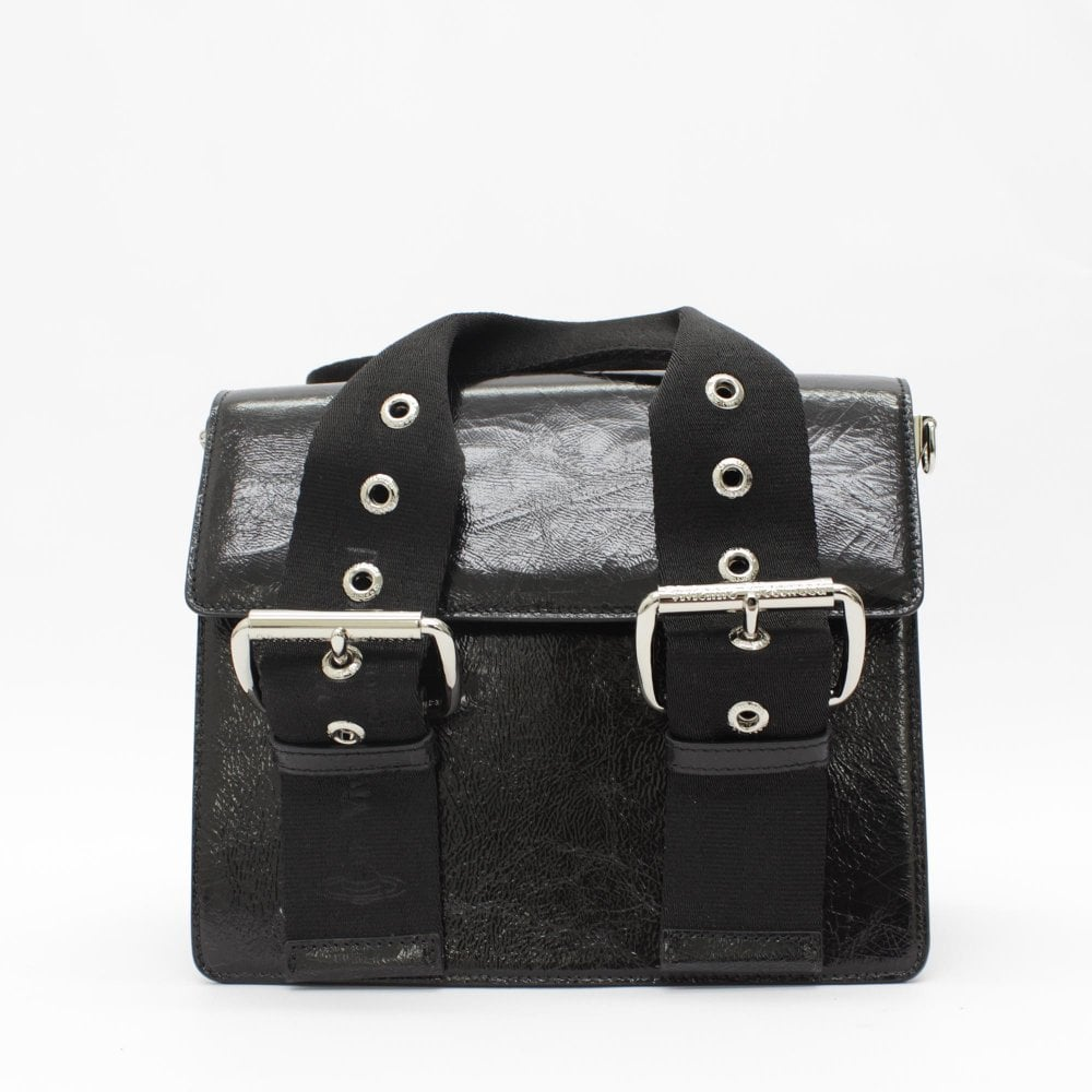 daafe28e0d VIVIENNE WESTWOOD Alex Shinny Black Saddle Bag - Womens from PILOT UK