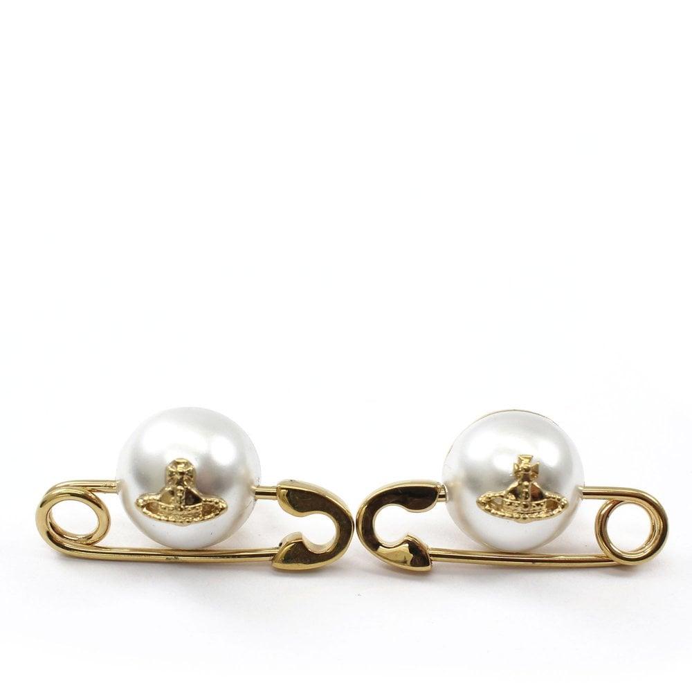 Vivienne Westwood Jordan Rose Gold Earrings Womens From Pilot Uk