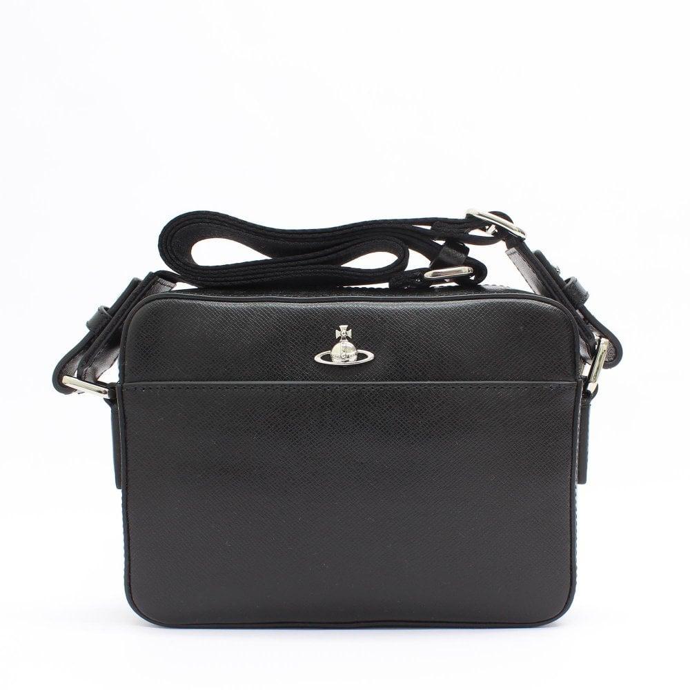 a9887d318e9 VIVIENNE WESTWOOD Kent Black Camera Bag - Mens from PILOT UK