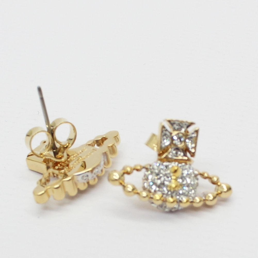 f6fef04f7dd7cc VIVIENNE WESTWOOD Lena Bas Relief Gold Earrings - Womens from PILOT UK