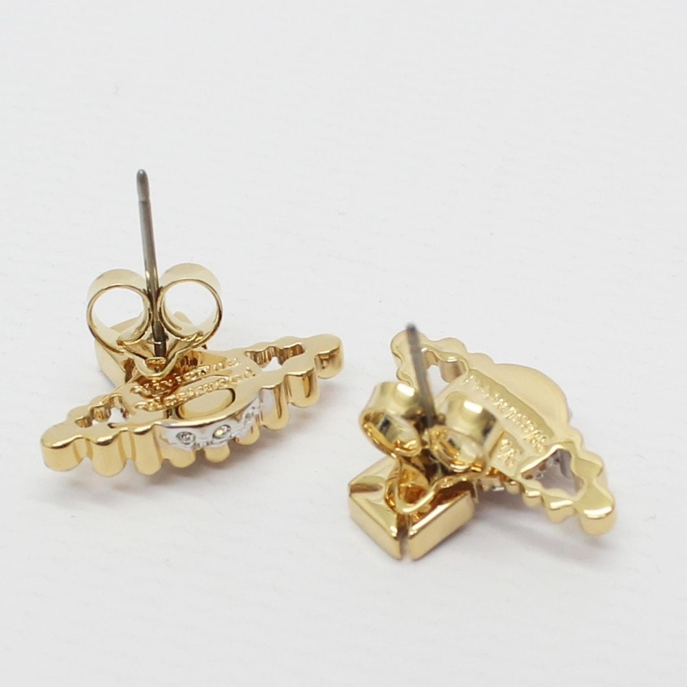 116b84dfd49453 ... VIVIENNE WESTWOOD Lena Bas Relief Gold Earrings. Tap image to zoom.  Sale. View ...