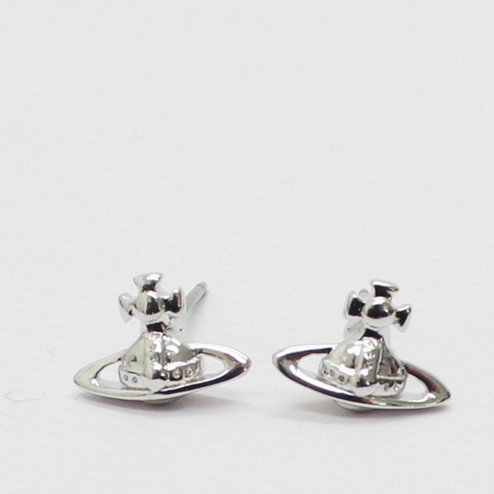 59a5461e3 VIVIENNE WESTWOOD Lorelei Silver Stud Earring - Womens from PILOT UK